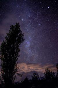 cielo estrellado lluvia de perseidas